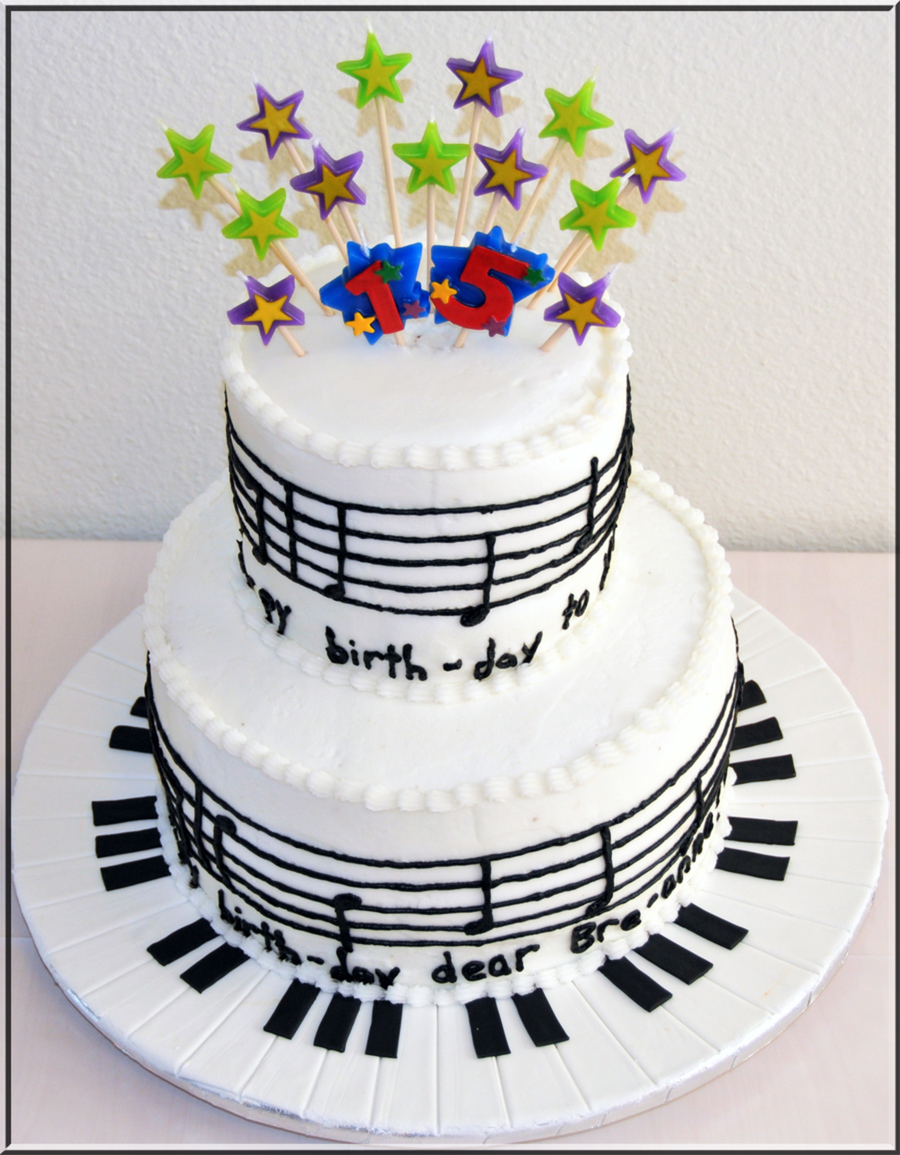Chocolate Musical Cake Decorations