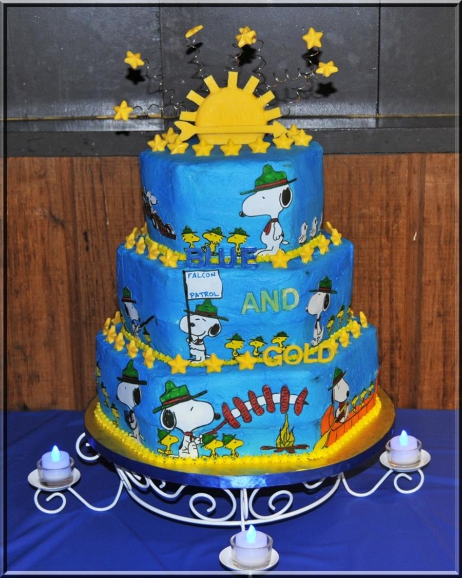 Cub Scout Birthday Cake