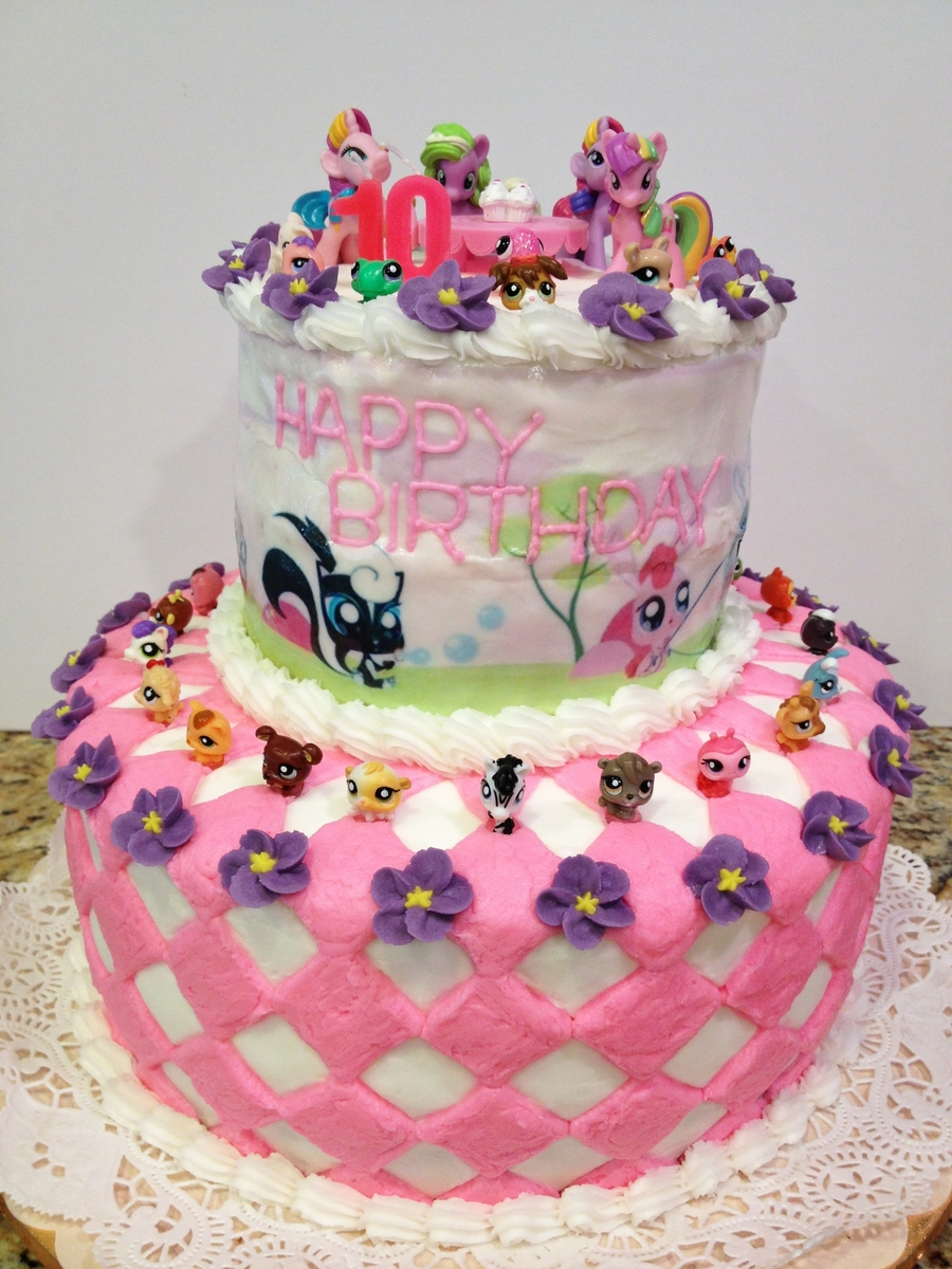 My Little Pet Shop And My Little Pony Birthday Cake CakeCentralcom