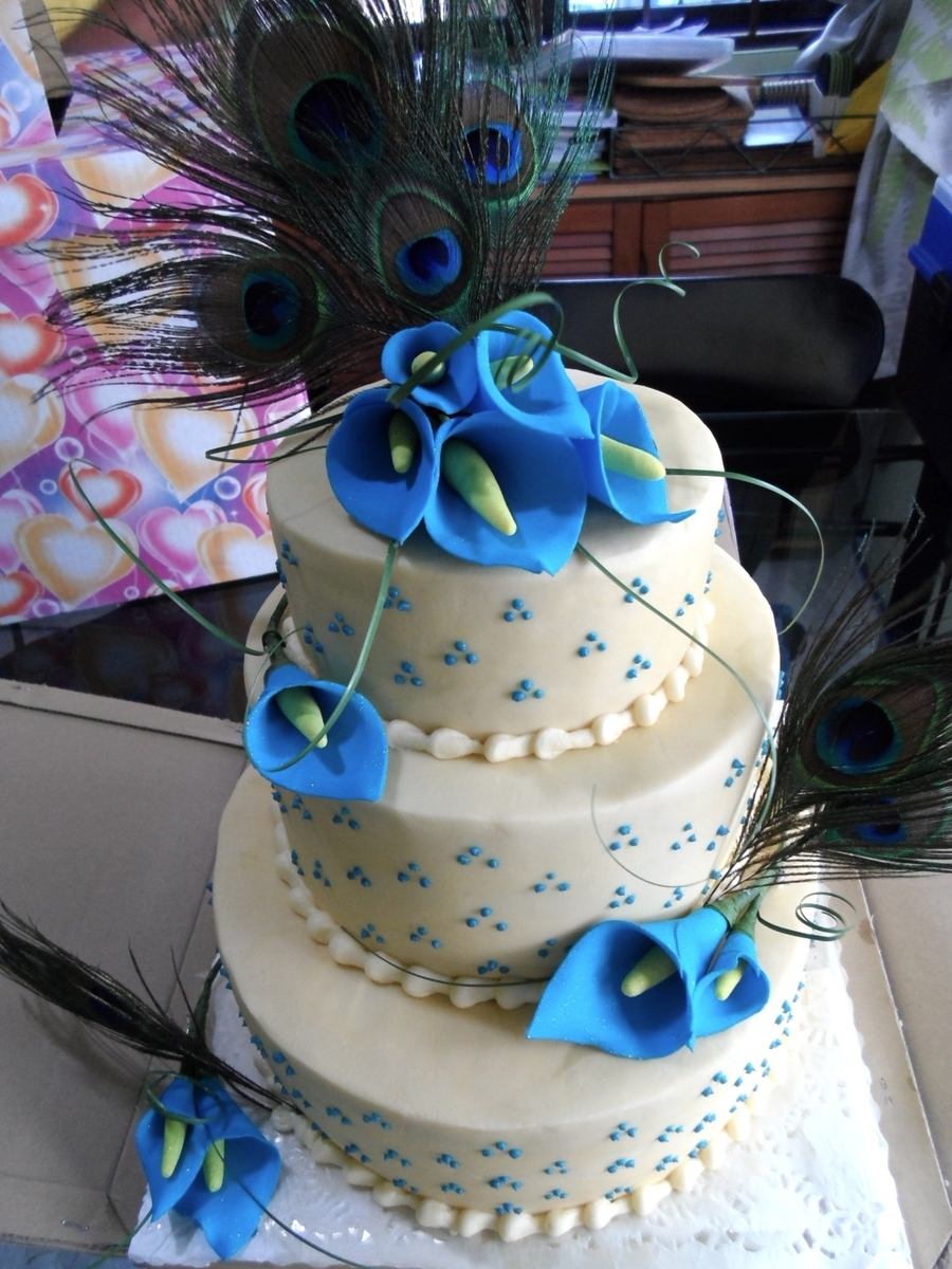 Peacock Themed Wedding Cake Cakecentral Com