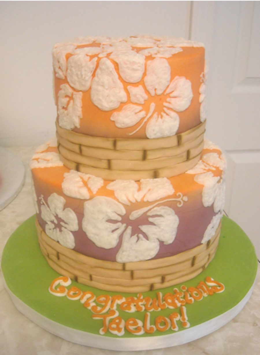 Hibiscus Graduation on Cake Central