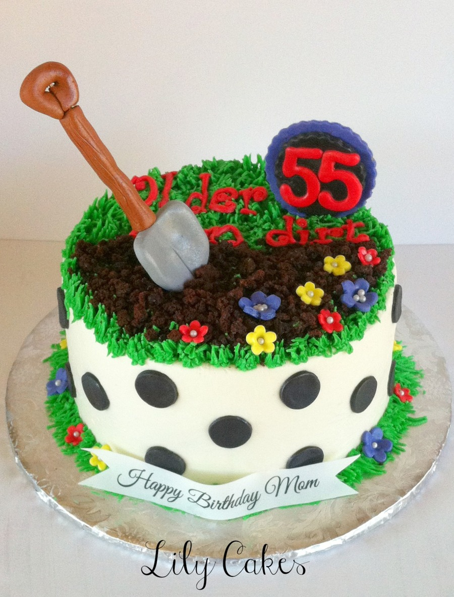 Older Than Dirt Cake 8 Round Buttercream With Fondant ...