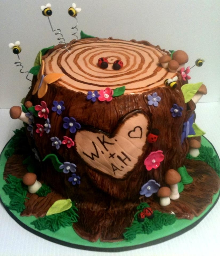 Fantasy Tree Stump on Cake Central