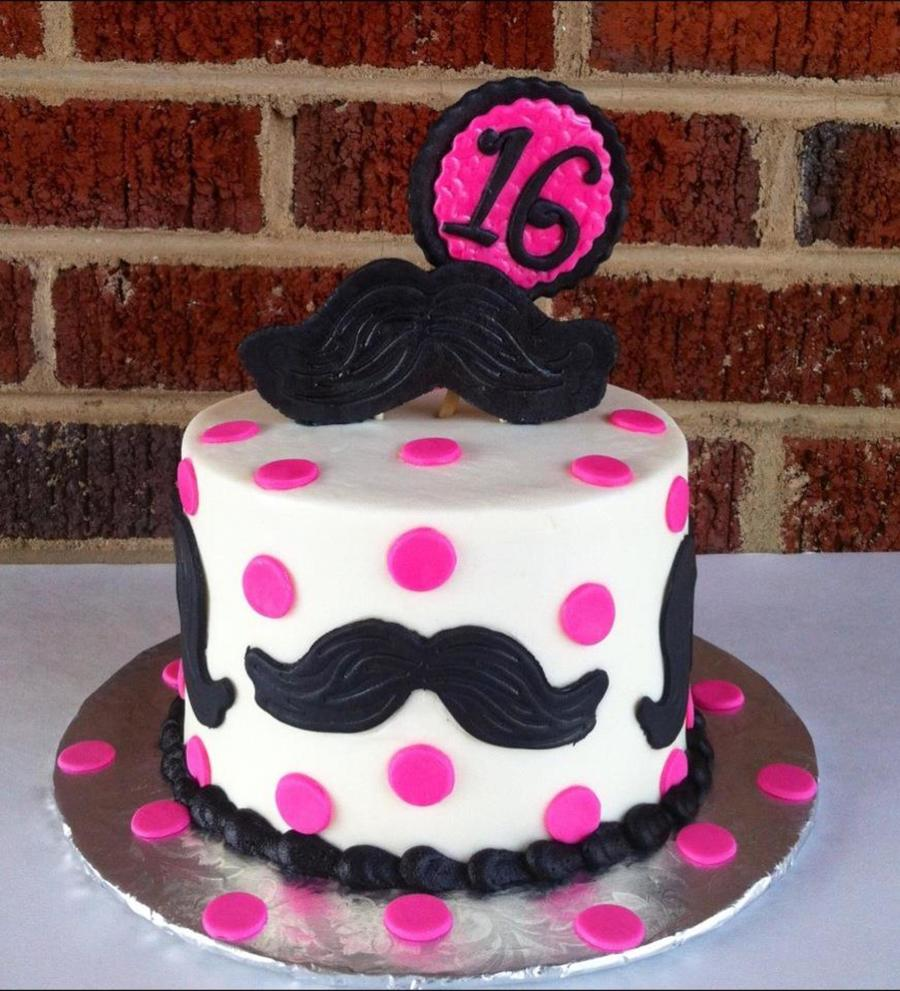 6 Buttercream Cake With Fondant Details I Lt3 Making Mustache Cakes on Cake Central