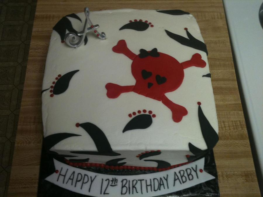 Skull And Crossbones Birthday on Cake Central
