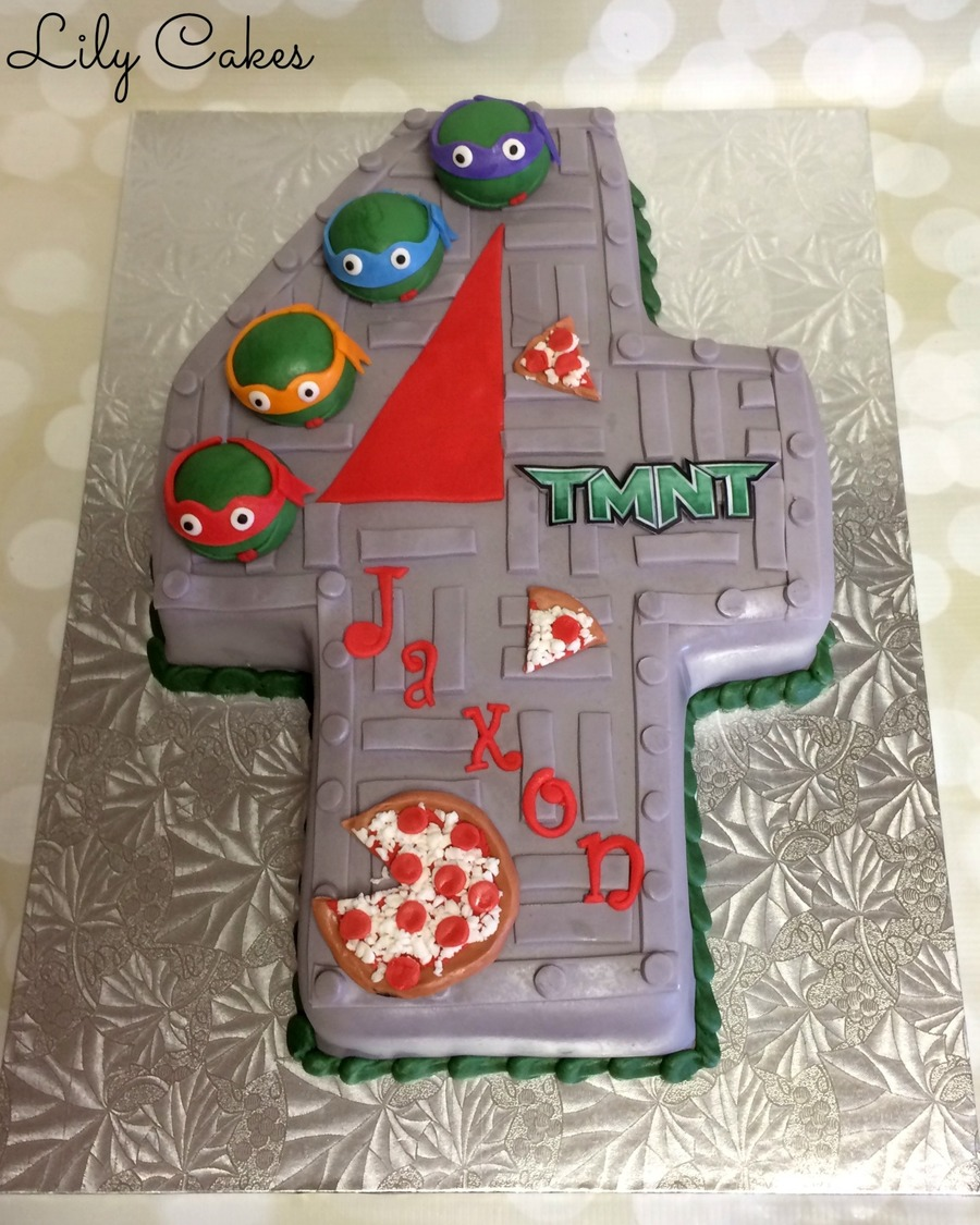 Awesome Teenage Mutant Ninja Turtle Cake For A 4Th Birthday Cakecentral Com Birthday Cards Printable Riciscafe Filternl