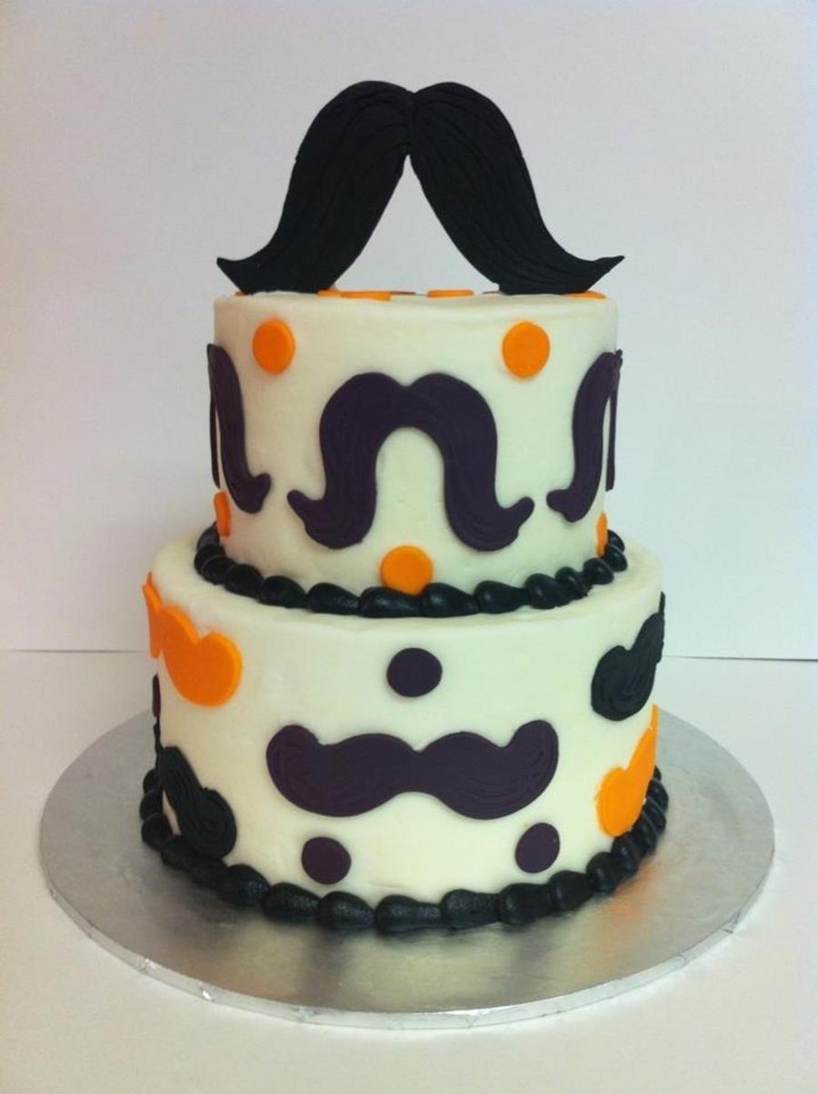 Mustache Cake CakeCentralcom