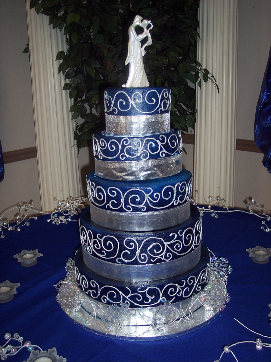 blue and silver wedding cake designs western wedding cake cakecentral 11959