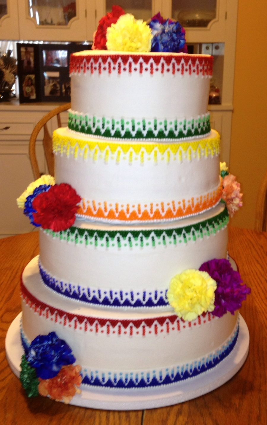 fiesta themed wedding cake mexican wedding cakecentral 14226