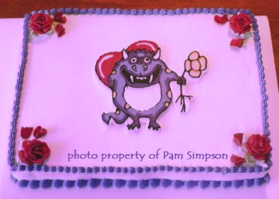 Purple Monster Valentine on Cake Central