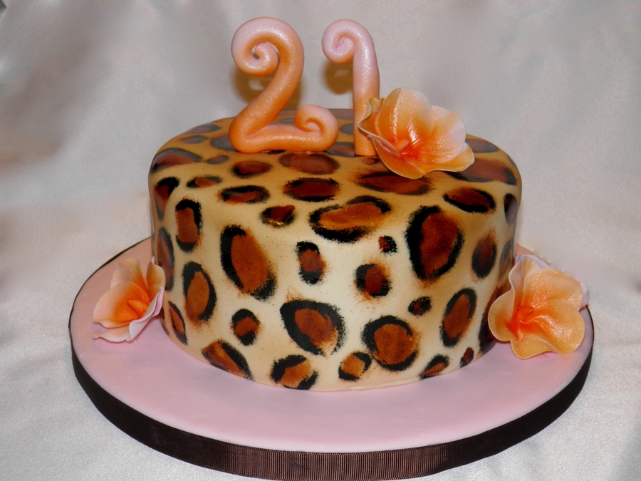 Leopard Print 21St Birthday Cake On Central
