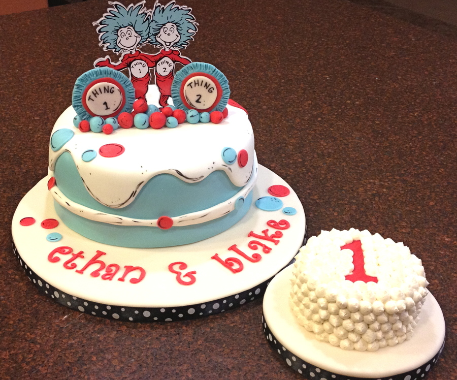 Dr Suess Thing 1 And Thing 2 on Cake Central