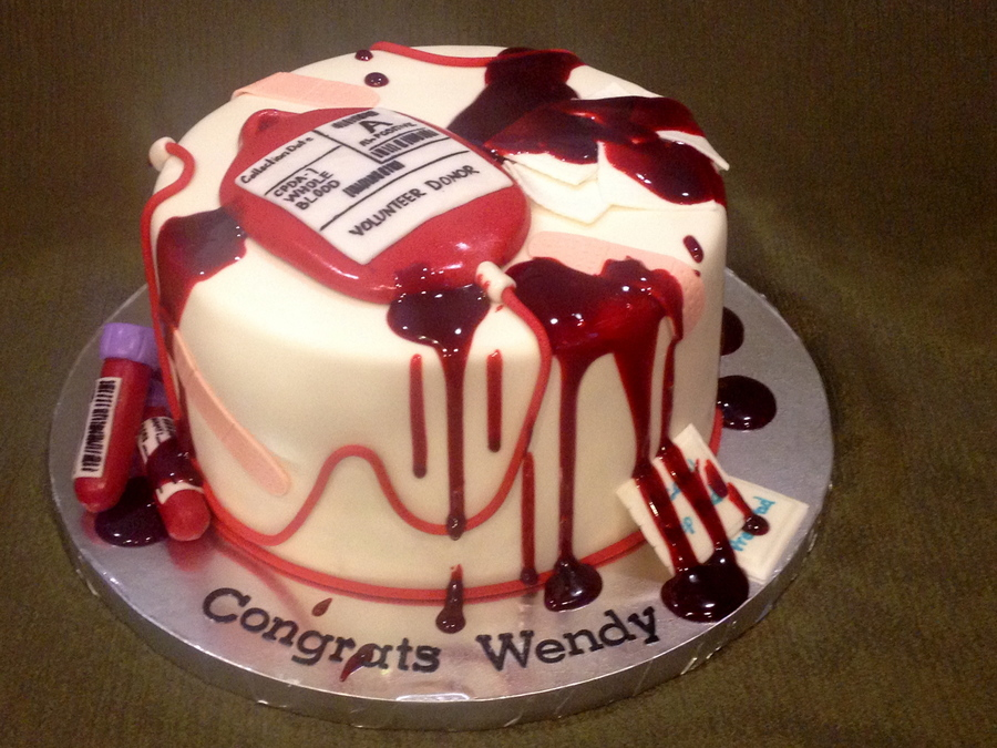 Phlebotomy Graduation Cake Cakecentral