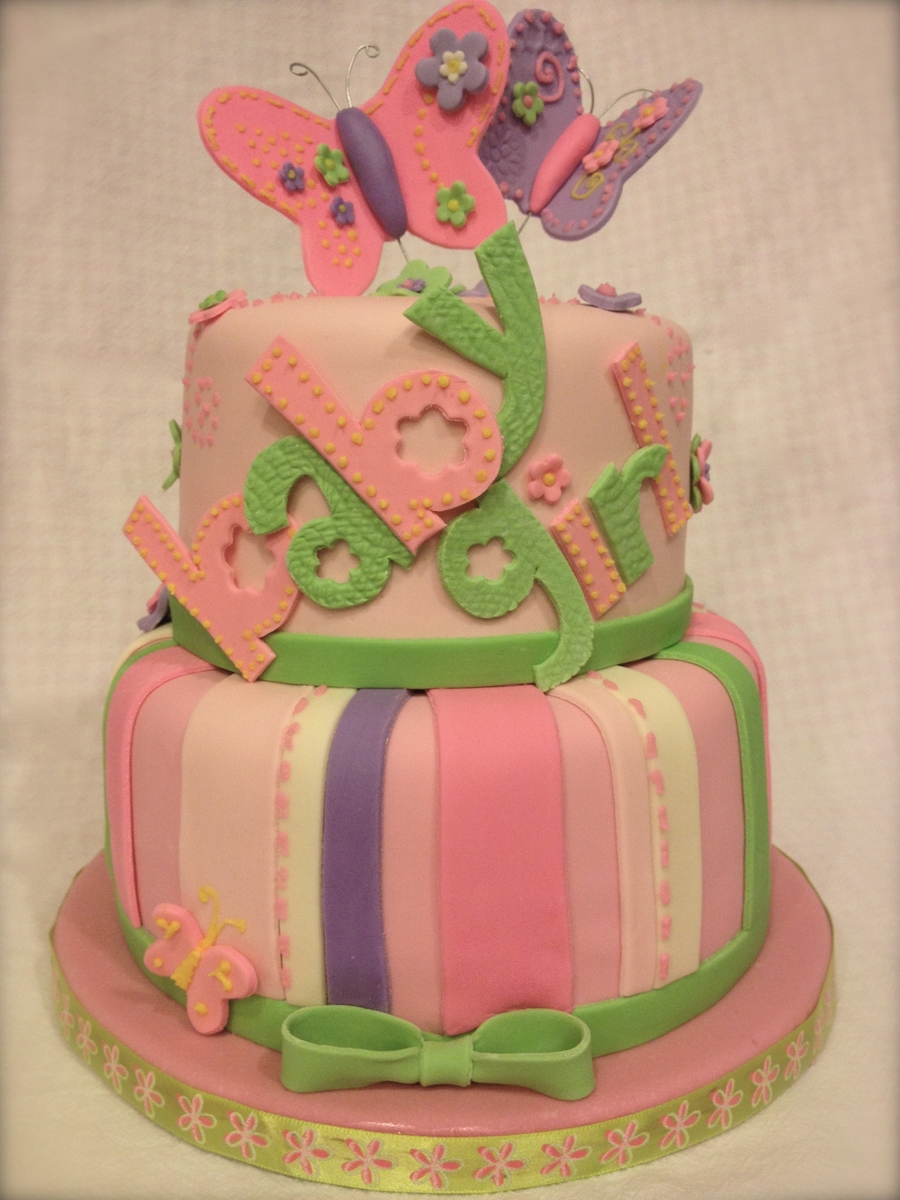 carter 39 s butterfly baby shower cake