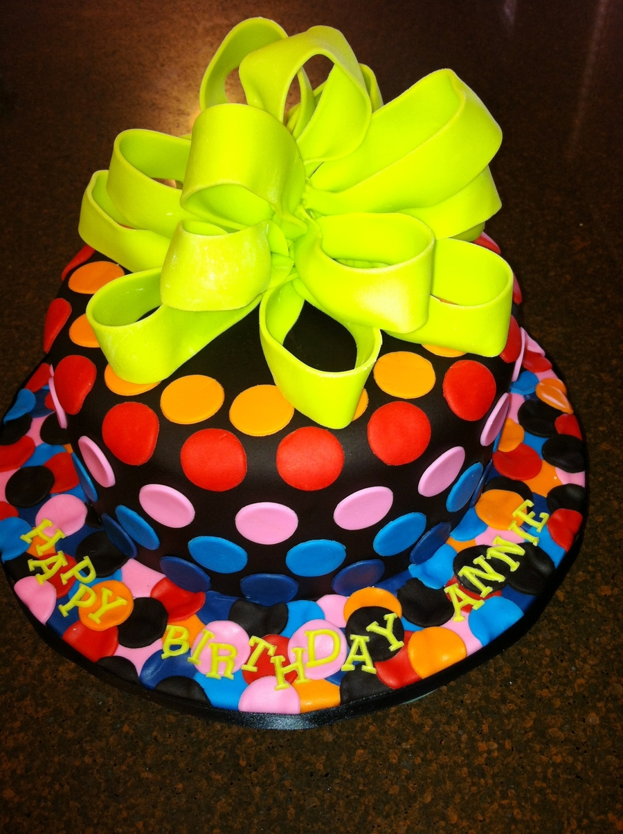 Neon Birthday on Cake Central