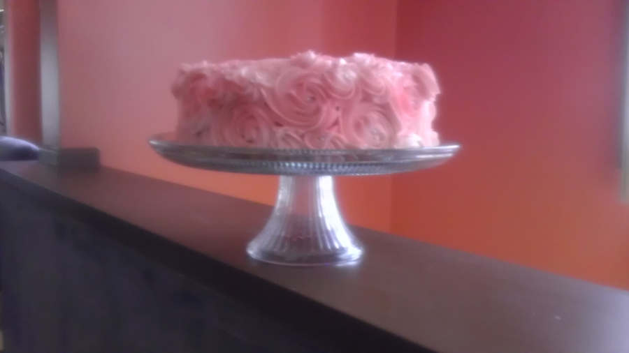 Buttercream Rose Cake on Cake Central