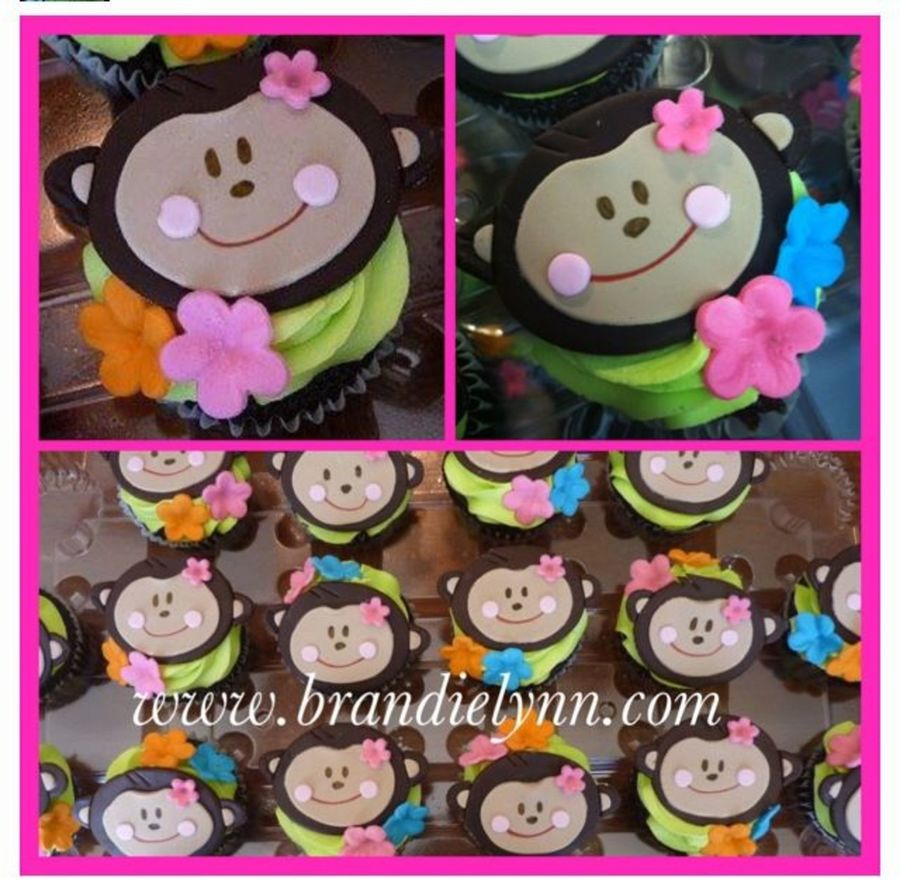 Monkey Luau Cupcakes on Cake Central