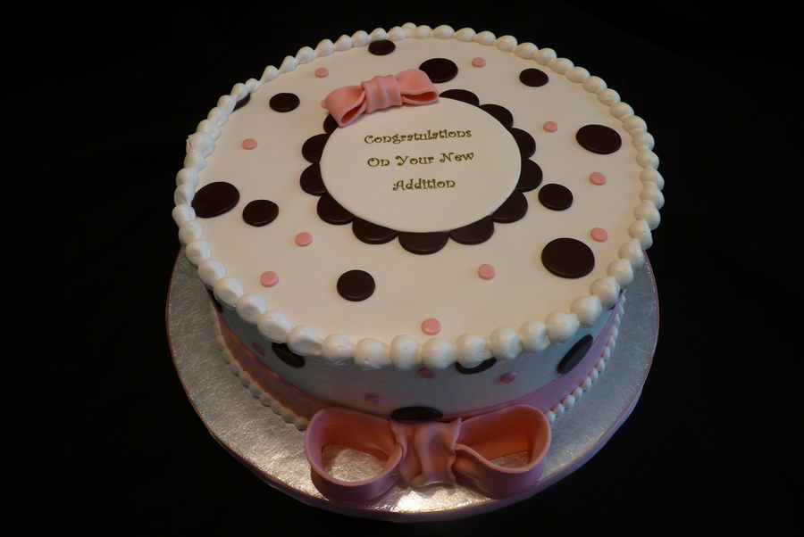 Pink & Brown Polka Dots on Cake Central
