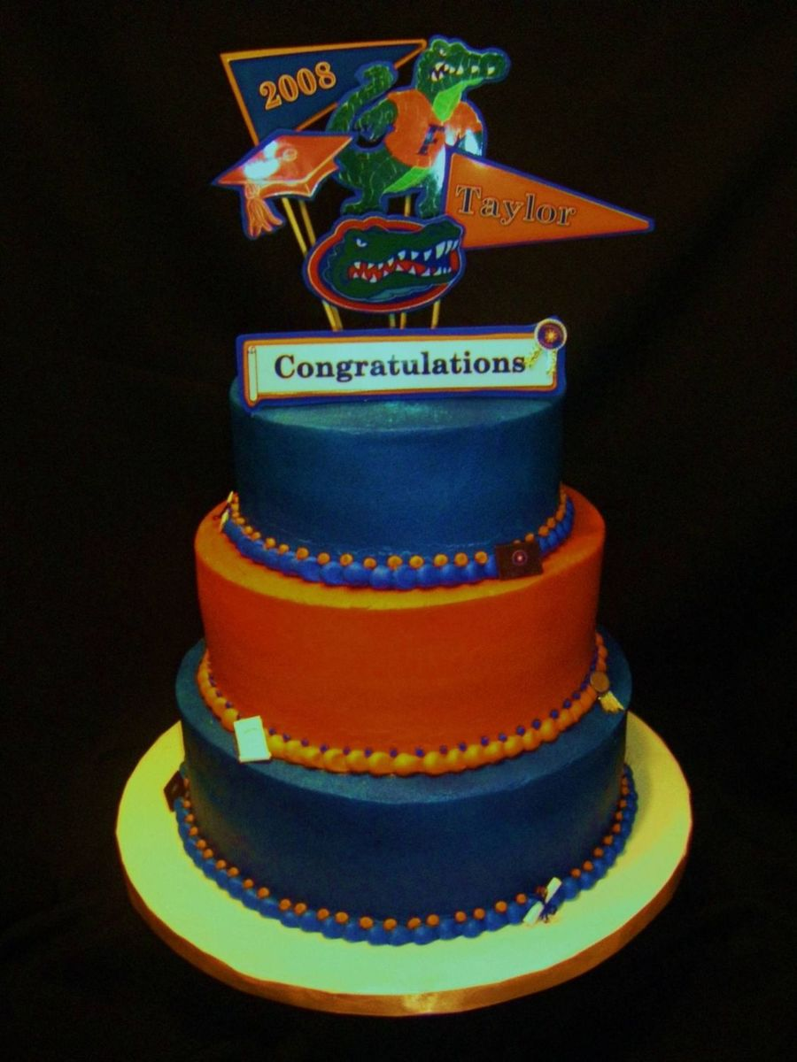 Florida Gators Graduation Cake Cakecentral Com