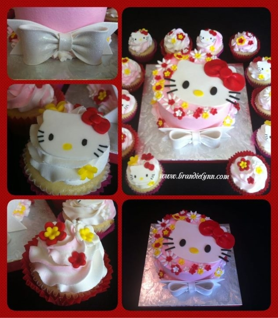 Hello Kitty W/ Matching Cupcakes on Cake Central