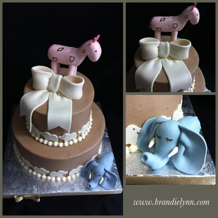 Mondern Jungle - Pink & Blue on Cake Central