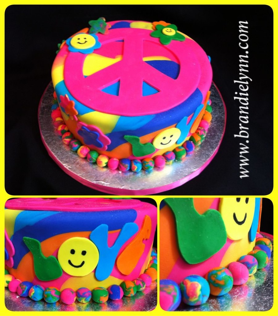 Peace Love & Groovy Times on Cake Central