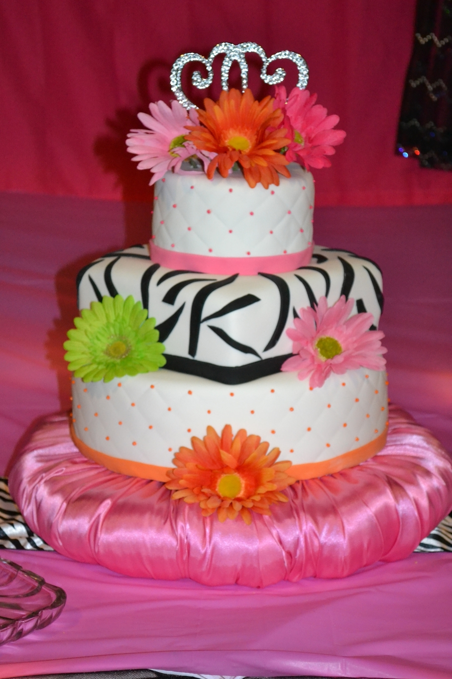 Bright Wedding Cake on Cake Central
