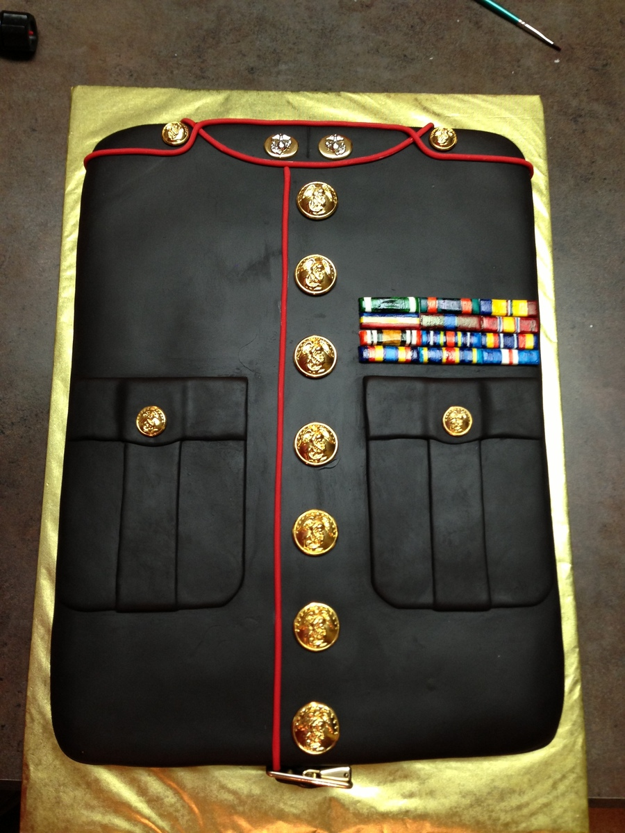 Marine Dress Blue Uniform on Cake Central