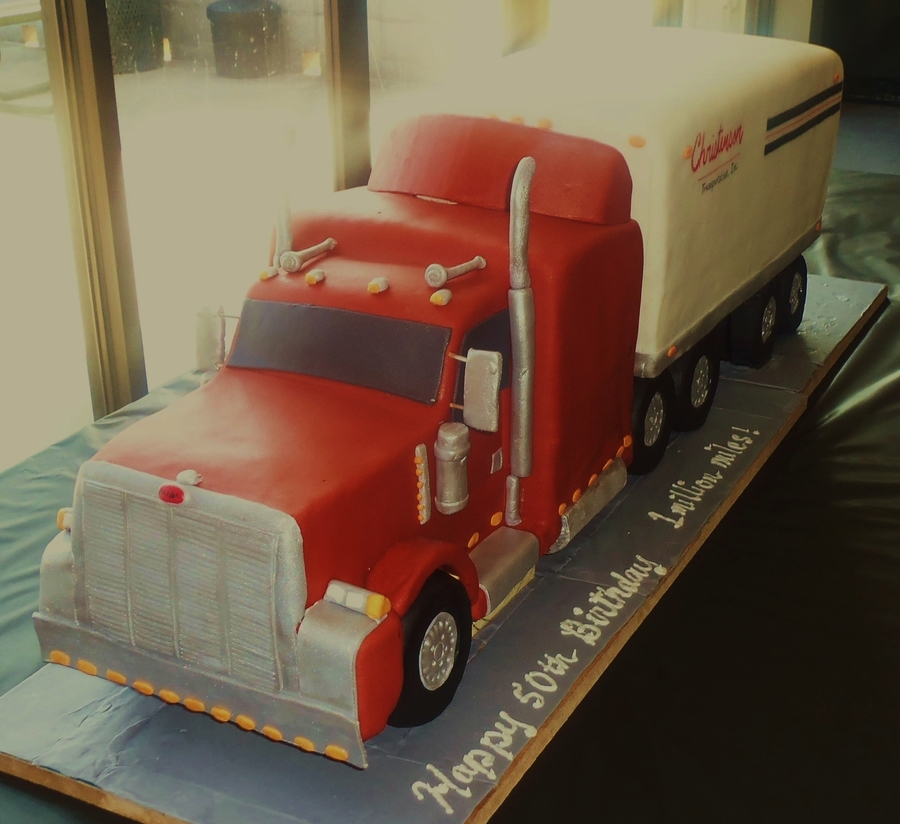 Peterbilt Tractor & Trailer on Cake Central