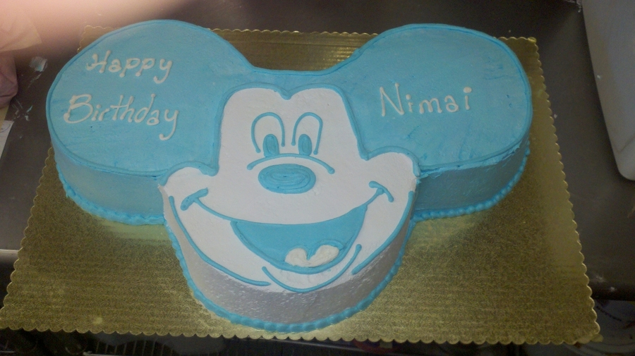 Giant Mickey Face Full Sheet on Cake Central