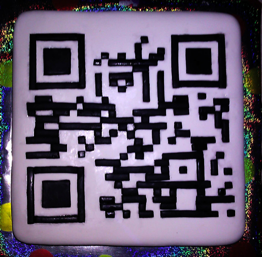Qr Code For My Geeky Friend It Said Happy Birthday Mike When You