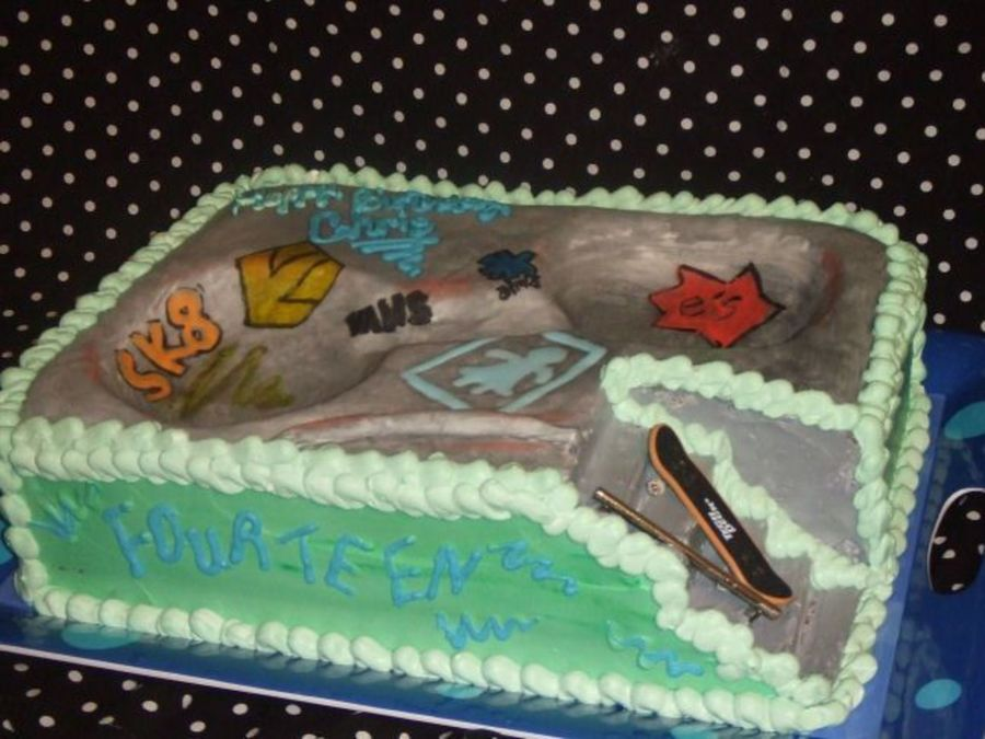 Admirable Skate Park Cake Interactive Cakecentral Com Personalised Birthday Cards Veneteletsinfo