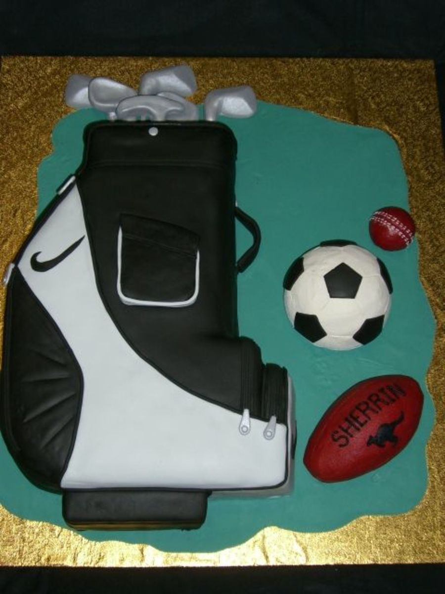 Golf Bag & Sports Balls on Cake Central