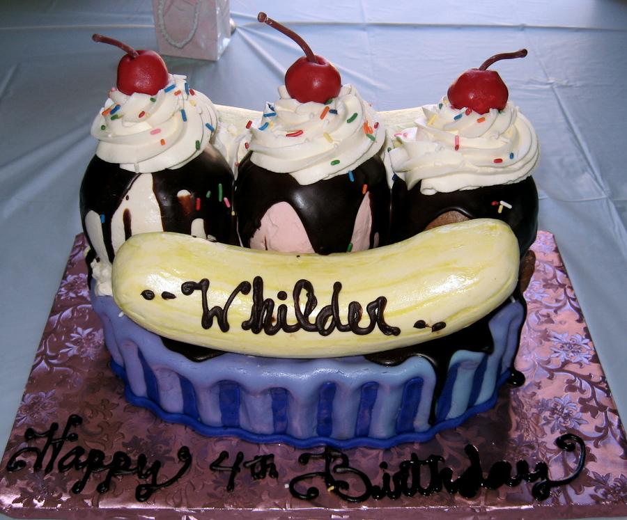 Banana-Split Birthday - CakeCentral.com