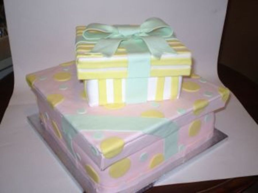 Baby Shower Gift Box Cake on Cake Central