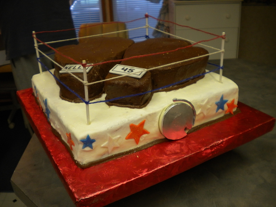 Boxing Student's Birthday on Cake Central