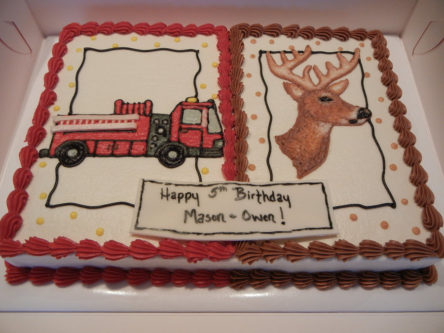 Firetruck And Buck on Cake Central