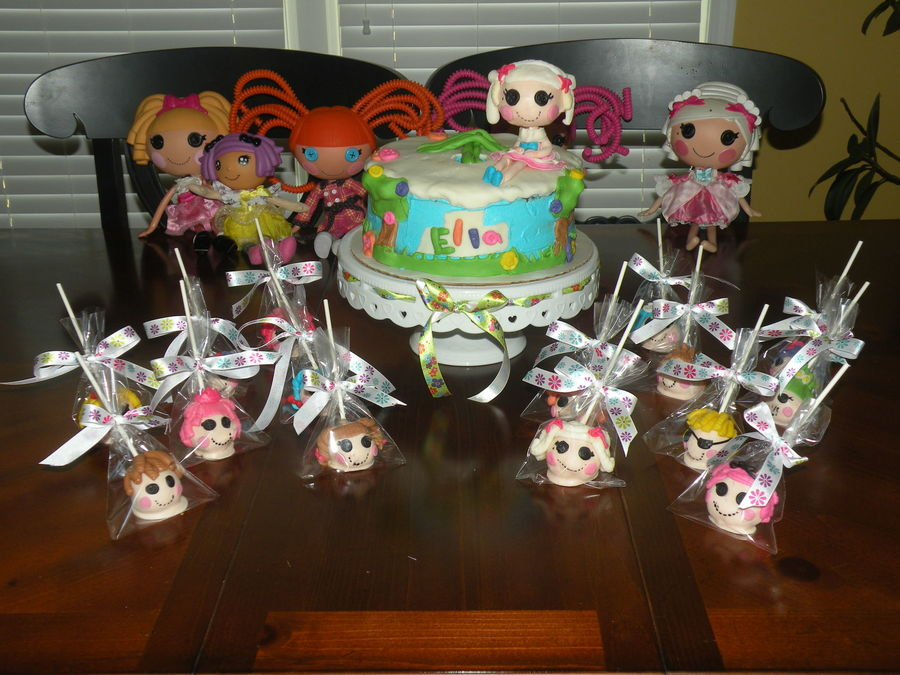 Lalaloopsy Cake And Cakepops Cake Is Buttercream And Fondant Doll Head Is A Large Cakeball With Gumpaste Accents Cakepops Are Decorate on Cake Central