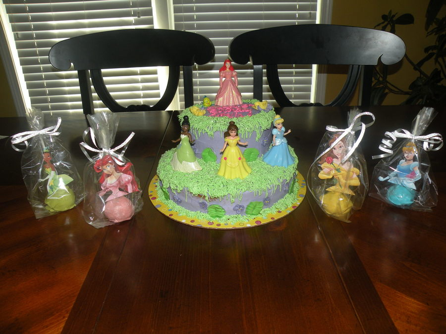 Disney Princess Cake With Cakepops All Buttercream Frosting on Cake Central