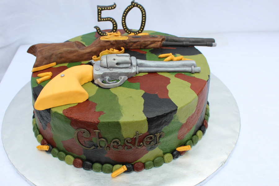 Gun Cake Civil War Riffle And John Wayne Shot Gun Cakecentral