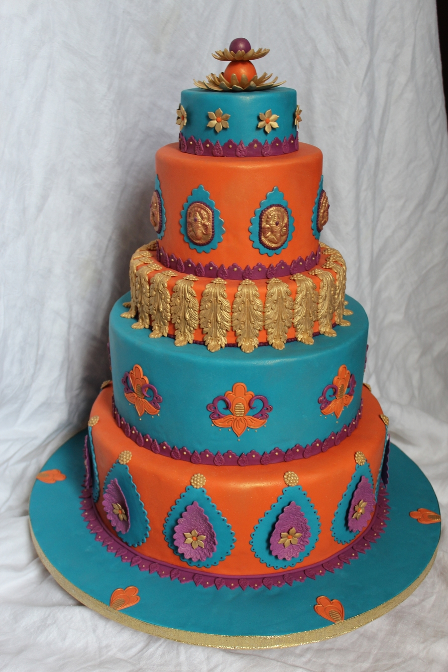 India Themed Wedding Cake on Cake Central