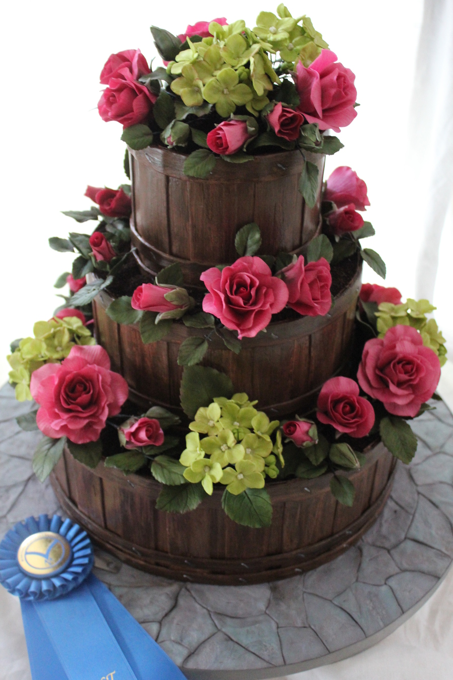 Cake Decorating With Fondant Flowers : Garden Basket Wedding Cake - CakeCentral.com