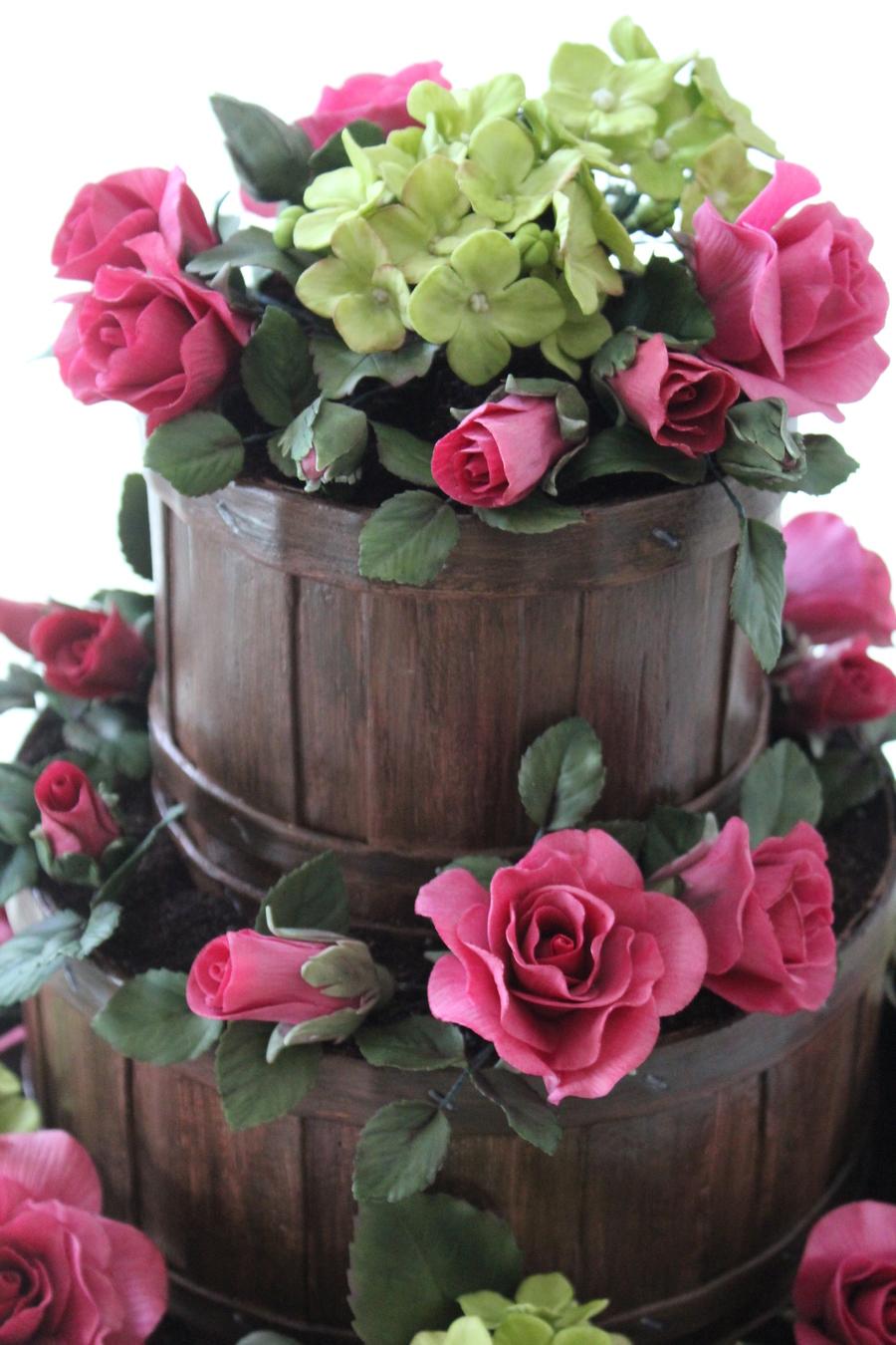 Garden Basket Wedding Cake Cakecentral Com