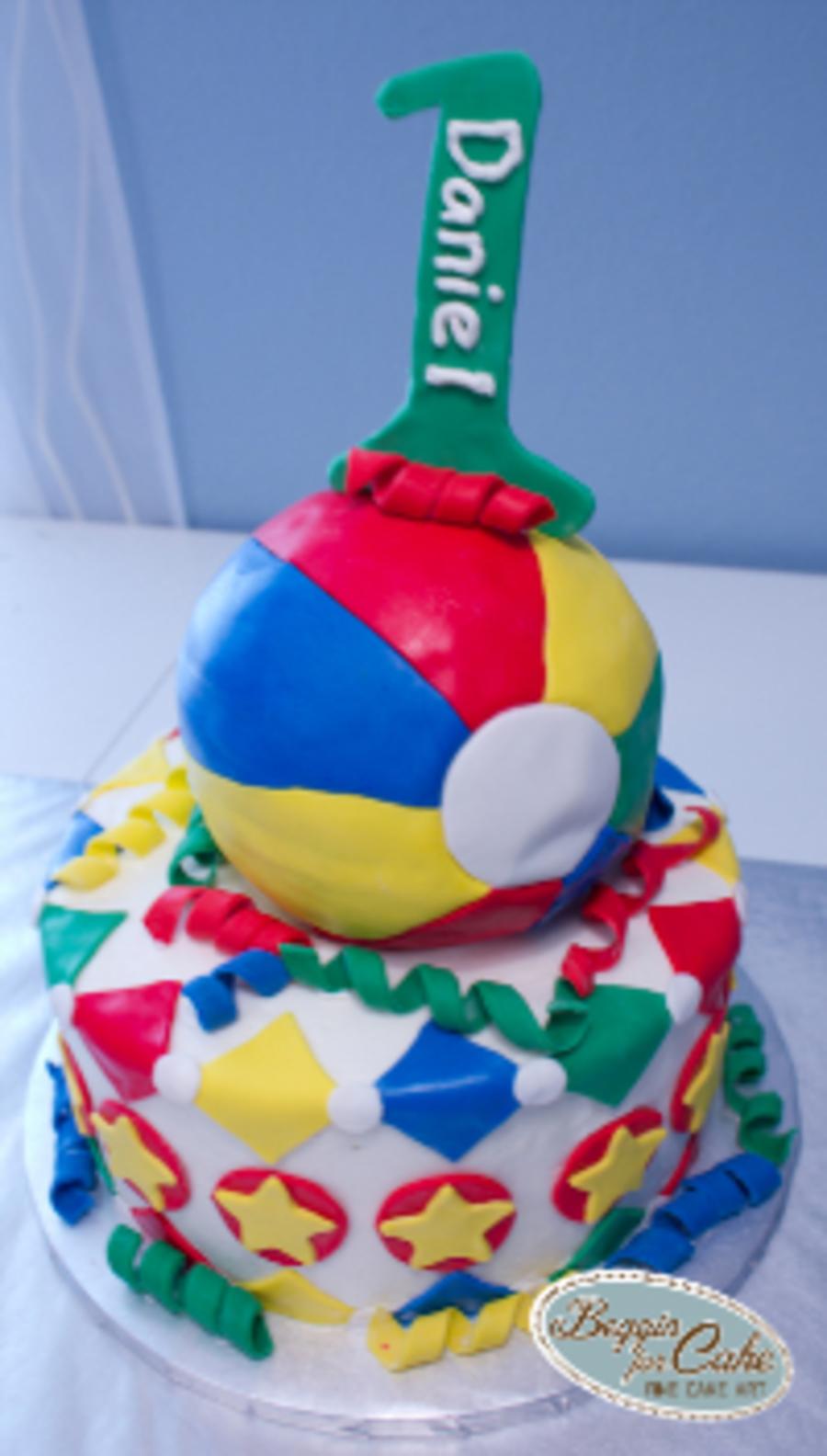 Strange Primary Color Beach Ball Cake Cakecentral Com Birthday Cards Printable Benkemecafe Filternl