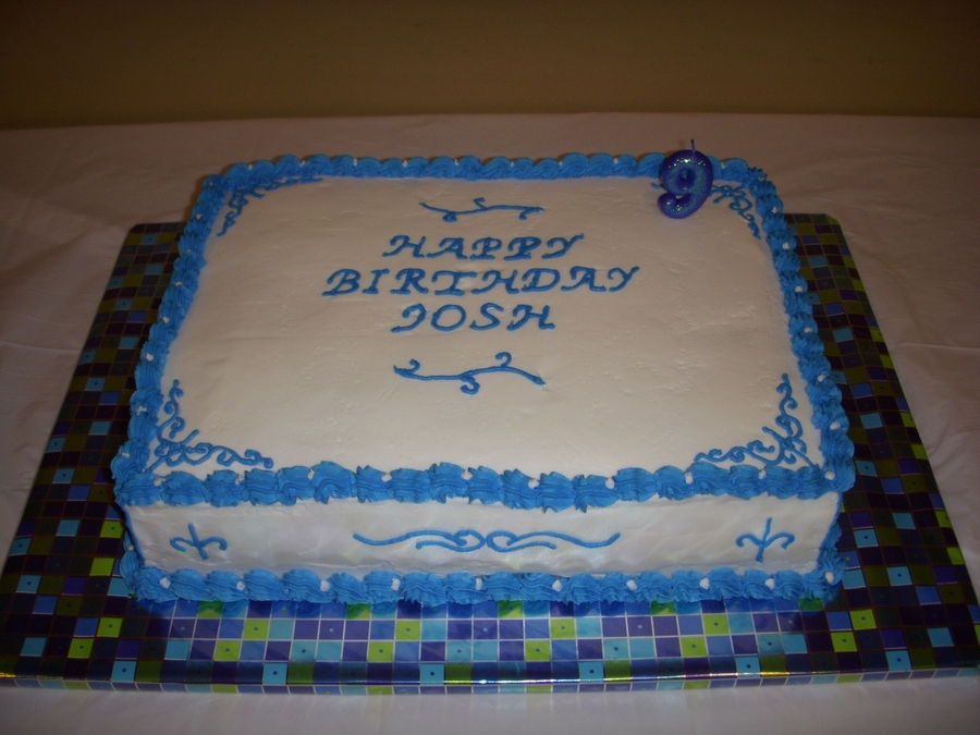 Blue And White Birthday Cake Cakecentral