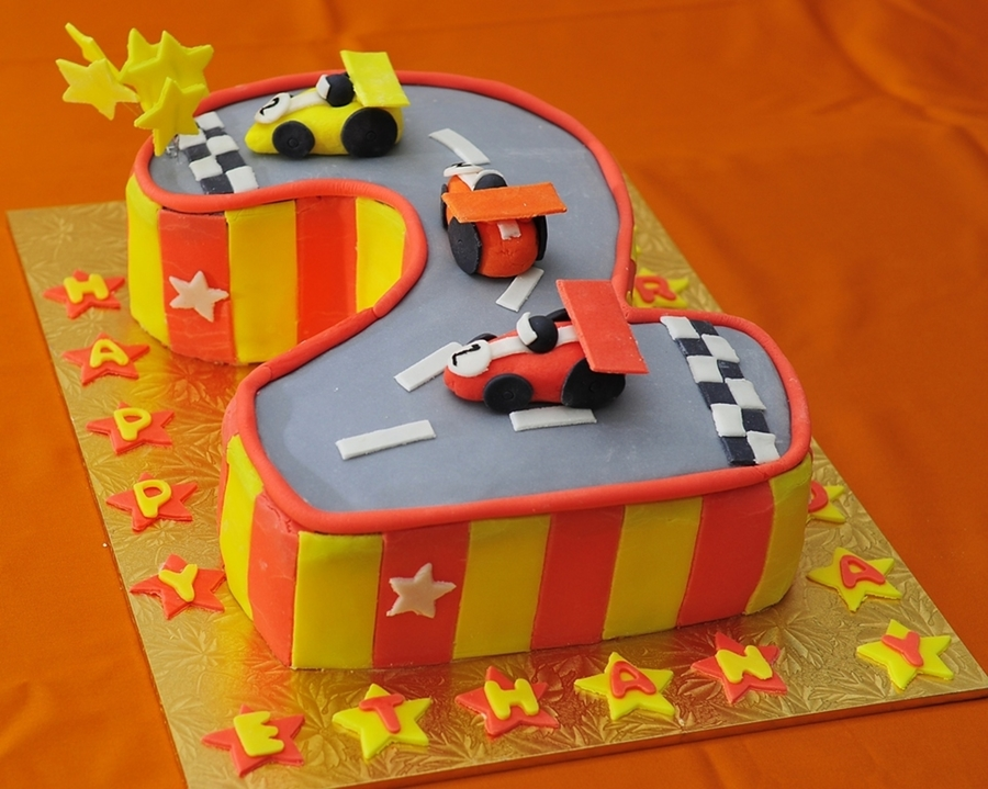 Racetrack Red N Yellow on Cake Central