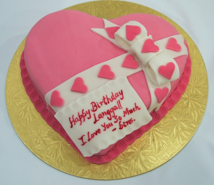 Hot Pink Heart For His Beloved on Cake Central