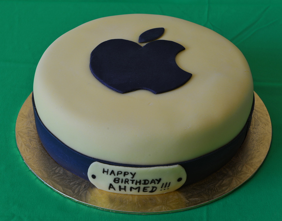 Dark Chocolate Cake With Apple Logo Cakecentral