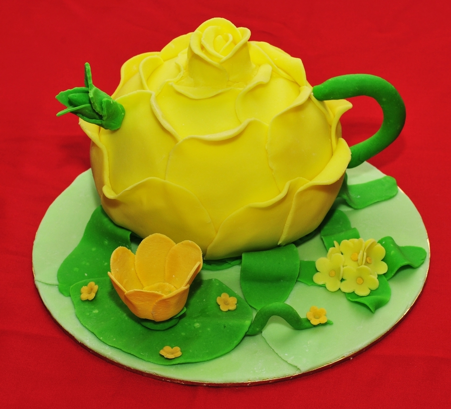 Rose Teapot Cake on Cake Central