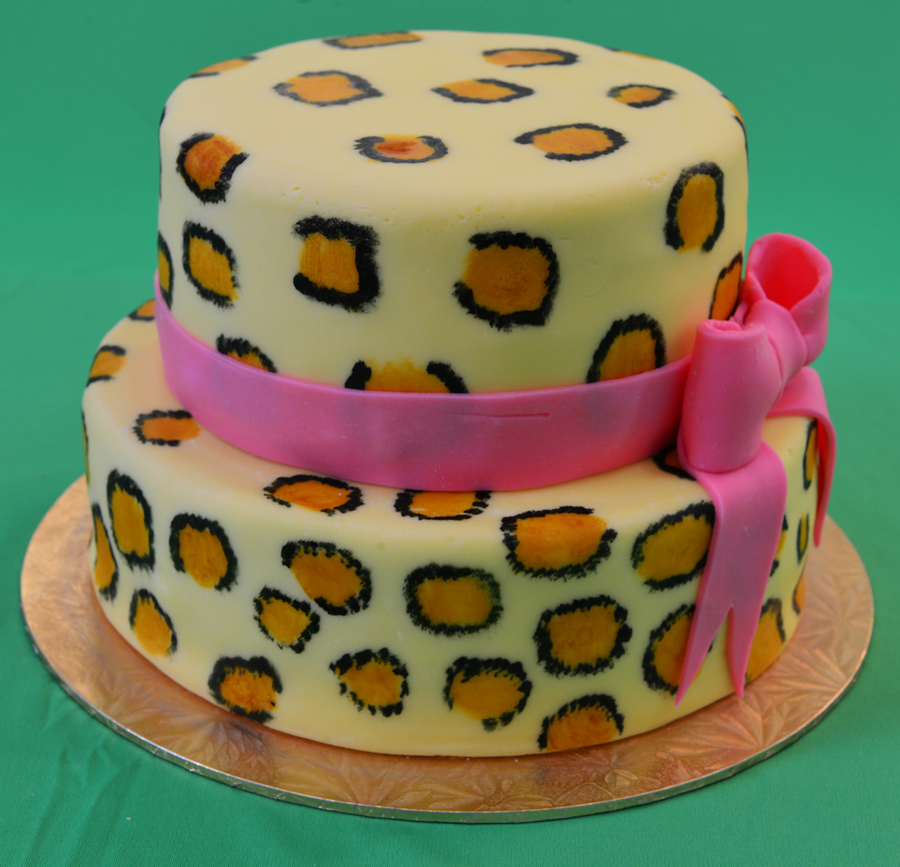 8 And 6 Marbled Mud Cake With Leopard Print on Cake Central